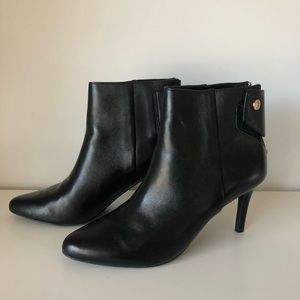 Cole Haan Black Leather Heeled Booties